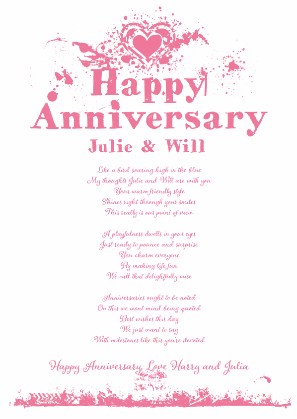Fun and Amusing Anniversary Poetry Card 17