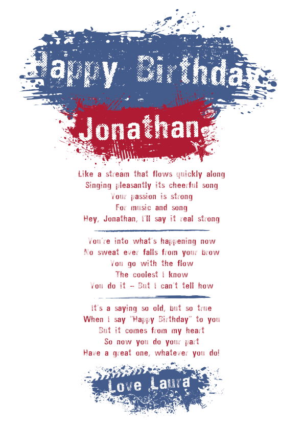 Fun and Amusing Birthday Poetry Card 10