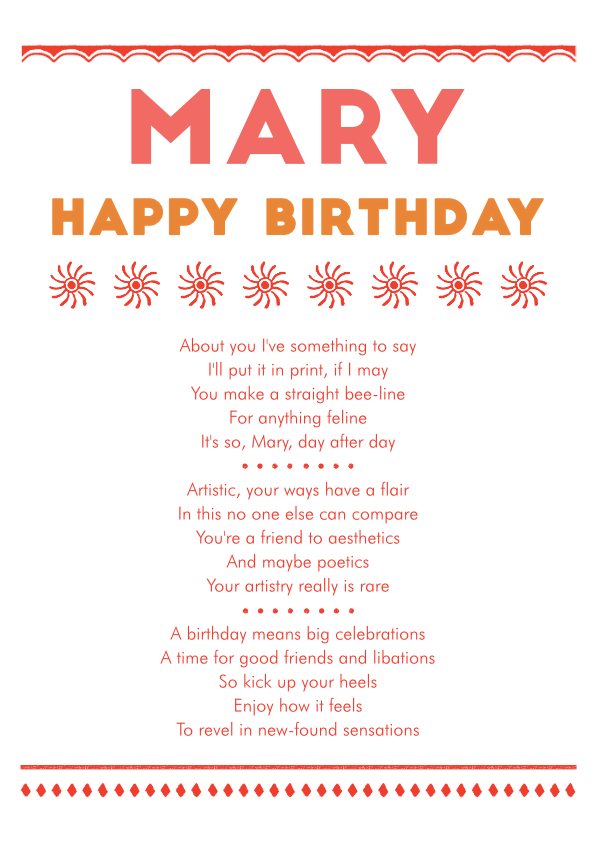 Fun and Amusing Birthday Poetry Card 11