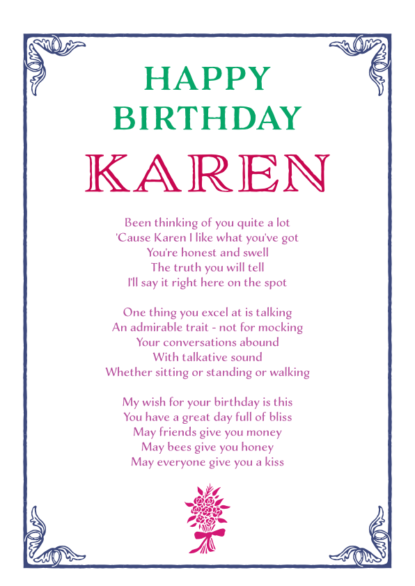 Fun and Amusing Birthday Poetry Card 12