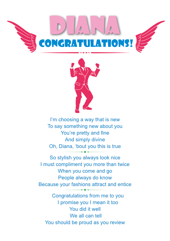 Fun and Amusing Congrats Poetry Card 5