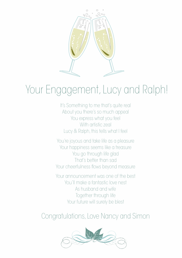 Fun and Amusing Engagement Poetry Card 1