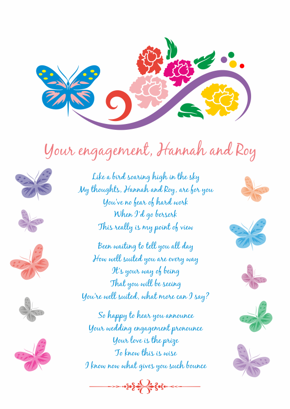 Fun and Amusing Engagement Poetry Card 5