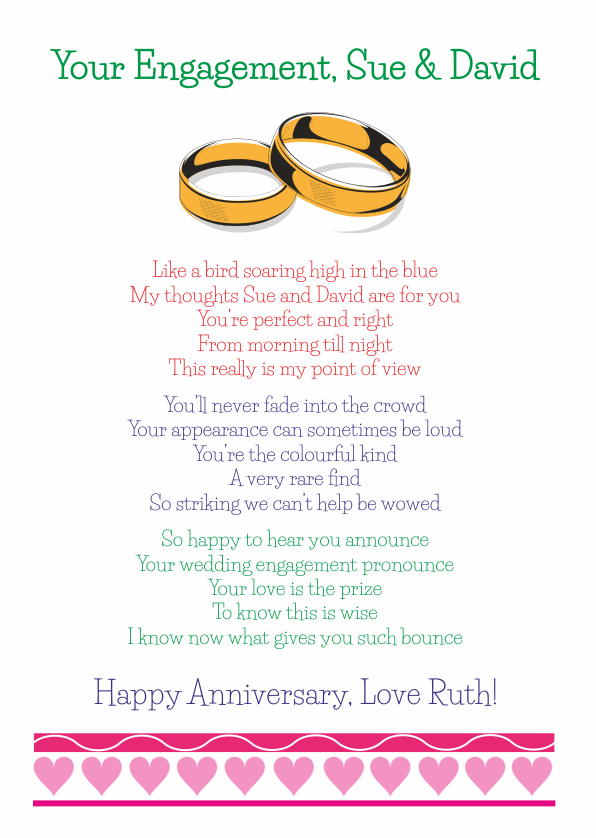 Fun and Amusing Engagement Poetry Card 8