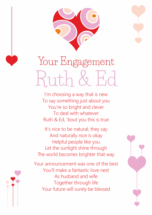 Fun and Amusing Engagement Poetry Card 9