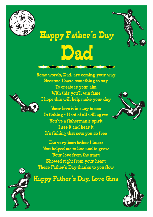 Fun and Amusing Fathers Day Poetry Card 2