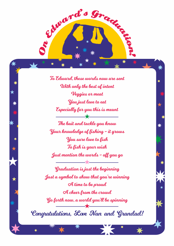 Fun and Amusing Graduation Poetry Card 2