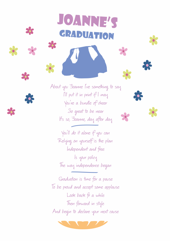 Fun and Amusing Graduation Poetry Card 7