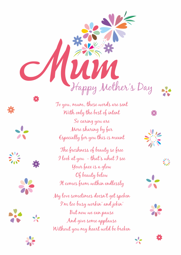 Fun and Amusing Mother's Day Poetry Card 6