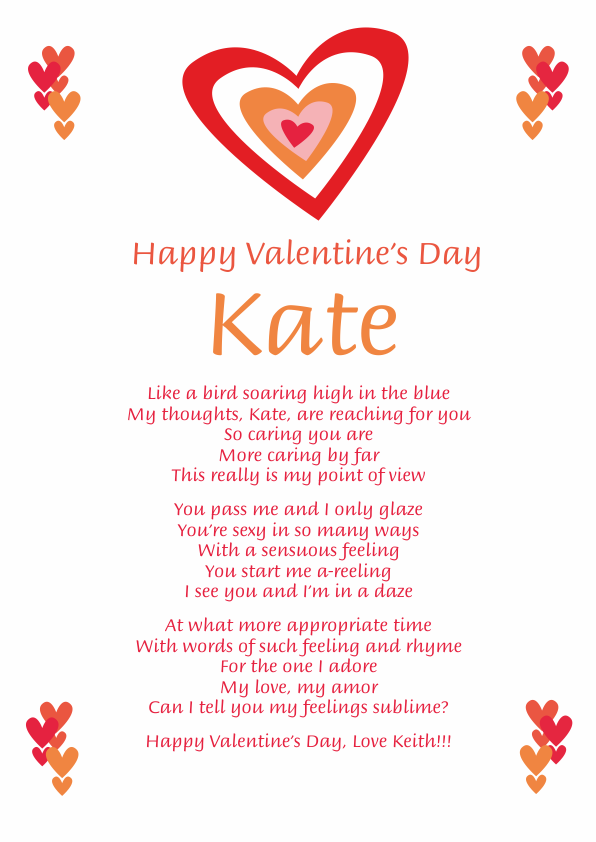Fun and Amusing Valentine's Day Poetry Card 3
