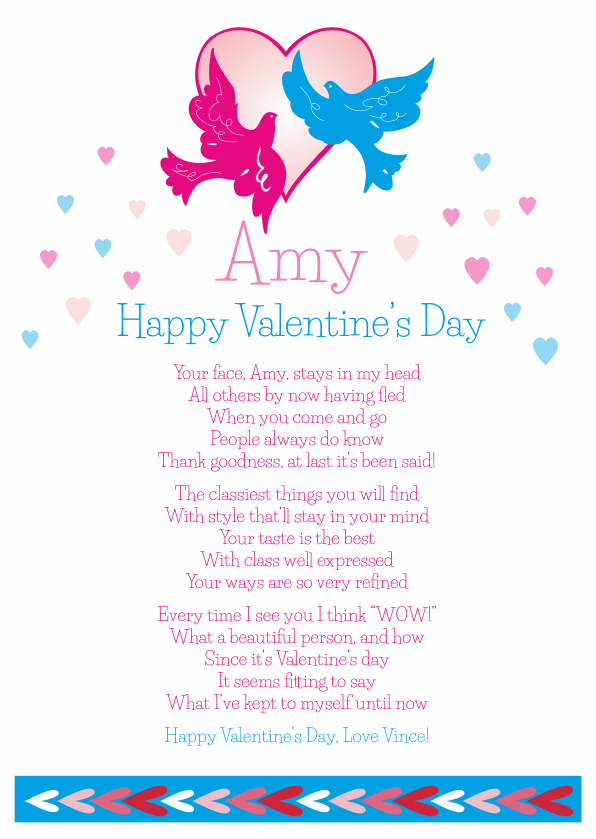 Fun and Amusing Valentines Day Poetry Card 4