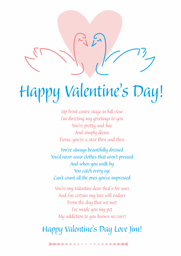 Fun and Amusing Valentines Day Poetry Card 5