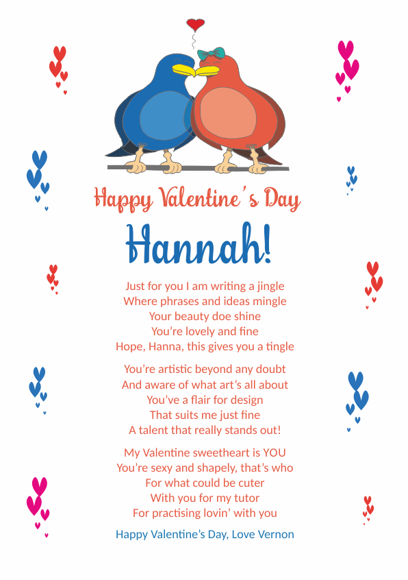 Fun and Amusing Valentines Day Poetry Card 6