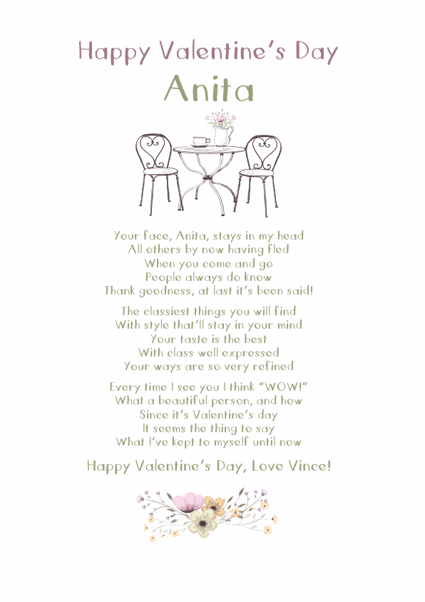 Fun and Amusing Valentines Day Poetry Card 9