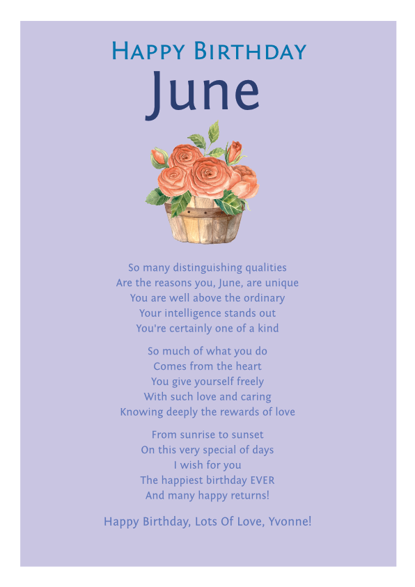 Serious and Sentimental Birthday Poetry Card 11