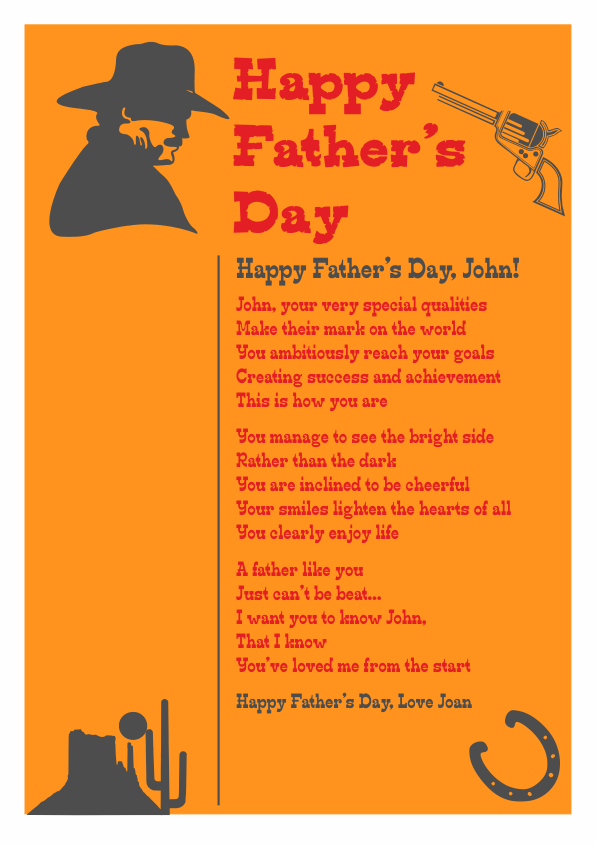 Serious and Sentimental Fathers Day Poetry Card 4