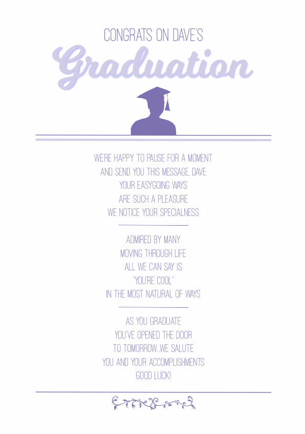 Serious and Sentimental Graduation Poetry Card 5