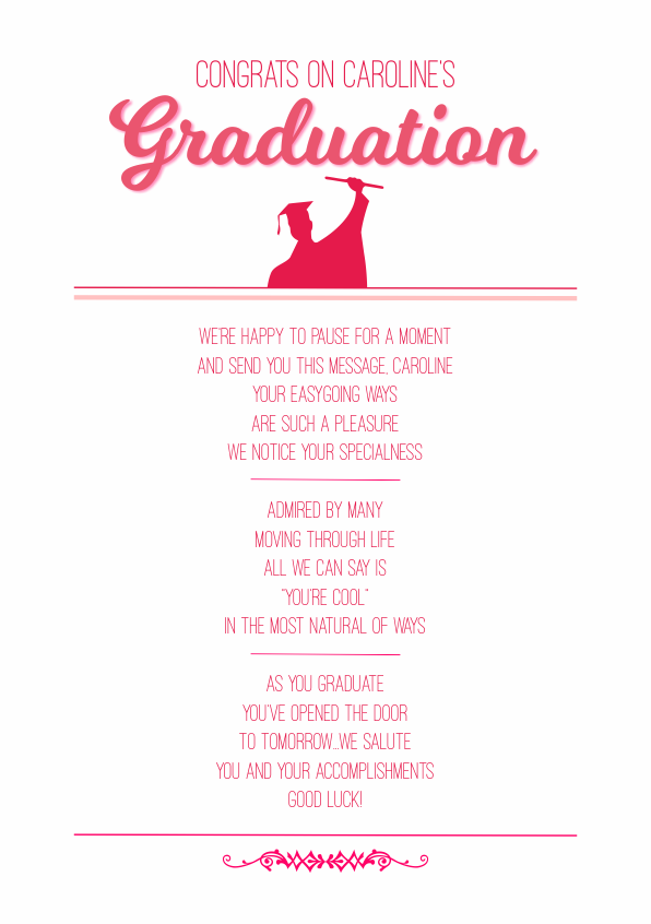 Serious and Sentimental Graduation Poetry Card 6