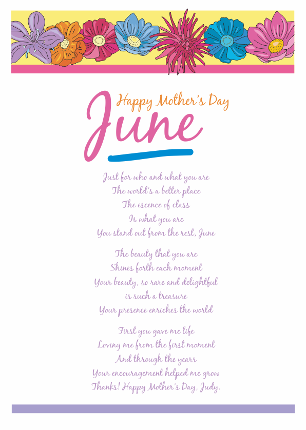 Serious and Sentimental Mothers Day Poetry Card 5