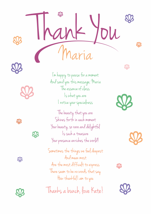 Serious and Sentimental Thank You Poetry Card 5