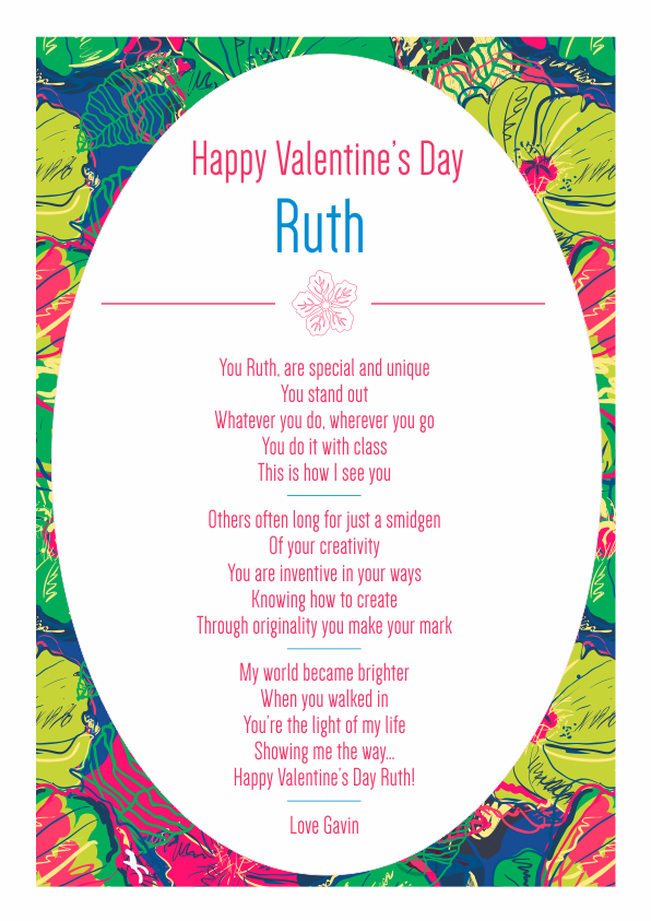 Serious and Sentimental Valentines Day Poetry Card 3