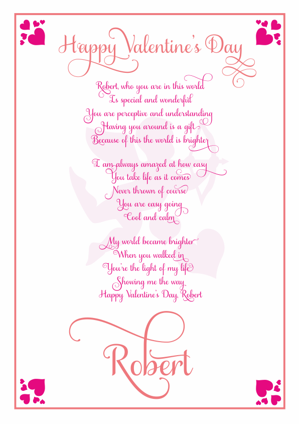 Serious and Sentimental Valentines Day Poetry Card 6