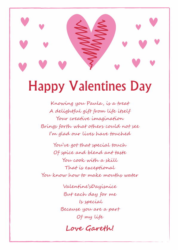 Serious and Sentimental Valentines Day Poetry Card 7