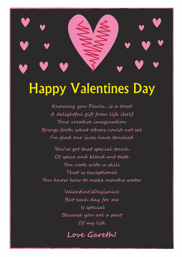 Serious and Sentimental Valentines Day Poetry Card 8